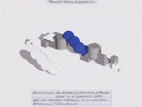 Original Architectural Drawing-Architectural Psychology-Poetic Inspiration