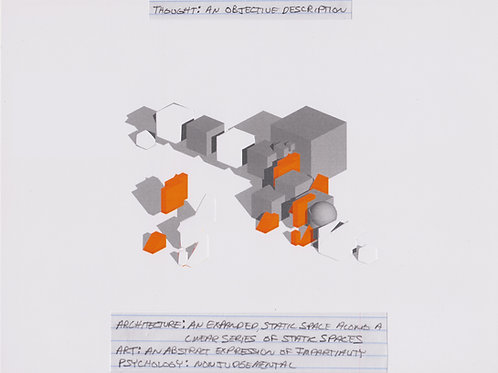 Original Architectural Drawings-Architectural Psychology-An Objective Description