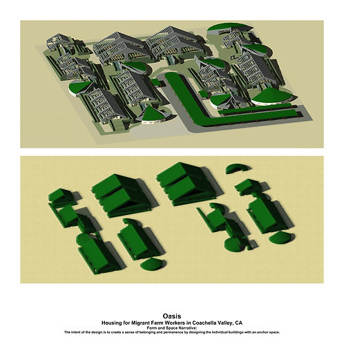 Empathetic Architecture Print-Multi-family housing that suggests community