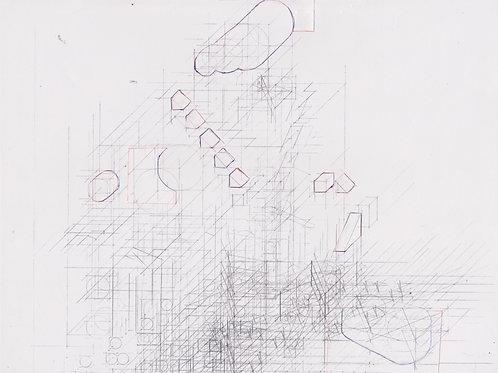 Original Architecture Art-Conceptual Architecture Sketchbook of Empathetic Architecture-Clouds Over a Valley