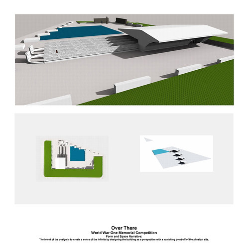 Original Architectural Art: Empathetic Architecture-A Memorial that a suggests the infinite