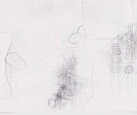 Original Architectural Drawings:Conceptual Architectural Sketch:Forest Waterfall