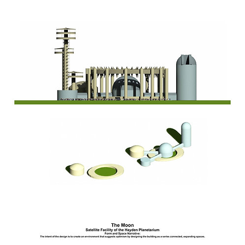 Original Architectural Art: Empathetic Architecture-A adaptive re-use facility that suggests optimism