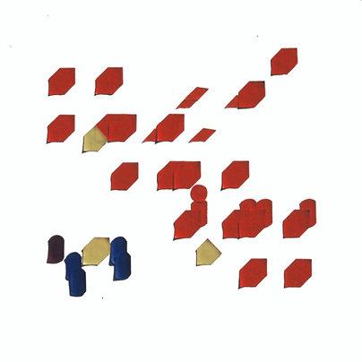 Original Architectural Art: Conceptual Development:Movement Through 4 Cubes
