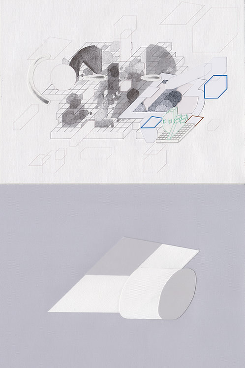 Original Architectural Art-Architectural Psychology-spatial definition that suggests solitude and reflection