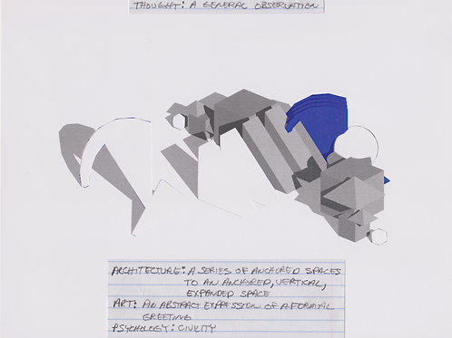 Original Architectural Drawing-Architectural Psychology-A General Observation