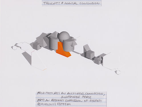Original Architectural Drawings-Architectural Psychology-A logical conclusion
