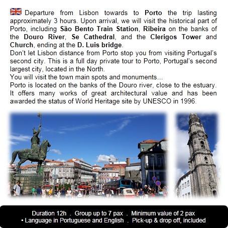 Itenerary Porto Tour