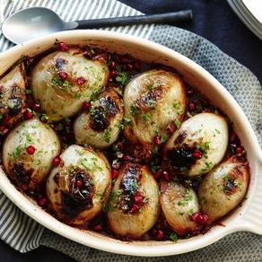 Stuffed Onions w/ Lamb and Pomegranate