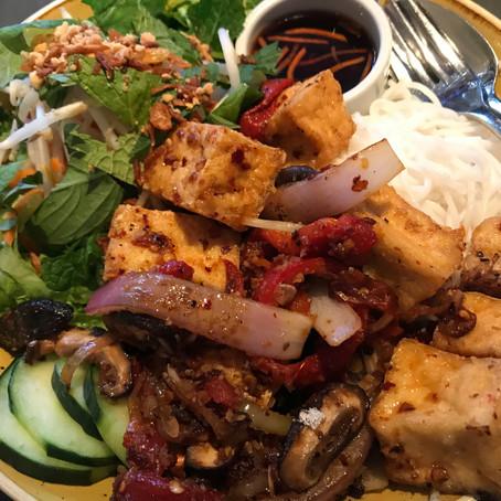 Vietnamese Vermecelli Lemongrass Tofu Noodle Bowls