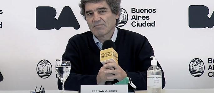 """Fernán Quirós le respondió a Alberto Fernández: """"Garantizamos la atención a todas las personas que t"""