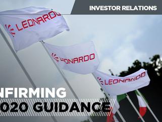Leonardo: buena gestión frente al COVID-19. Se confirman las perspectivas del año fiscal 2020