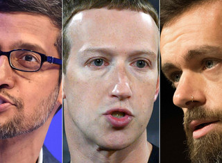 Los jefes de Facebook, Google y Twitter tendrán que dar explicaciones en el Senado de EEUU