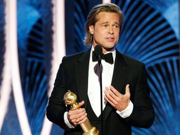 El discurso de Brad Pitt al recibir su Globo de Oro: una broma sobre sus romances y la mirada de Jen