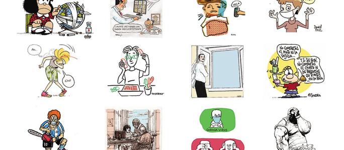Los principales dibujantes del país se suman a la lucha contra el coronavirus