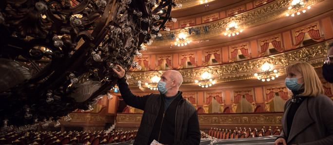 Rodríguez Larreta visitó el Teatro Colón que el 2 de julio reabrirá sus puertas al público