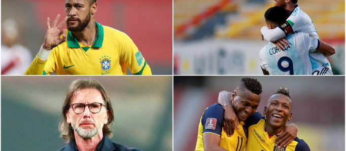Brasil y Argentina, líderes con puntaje ideal: cuándo y cómo se reanudan las Eliminatorias