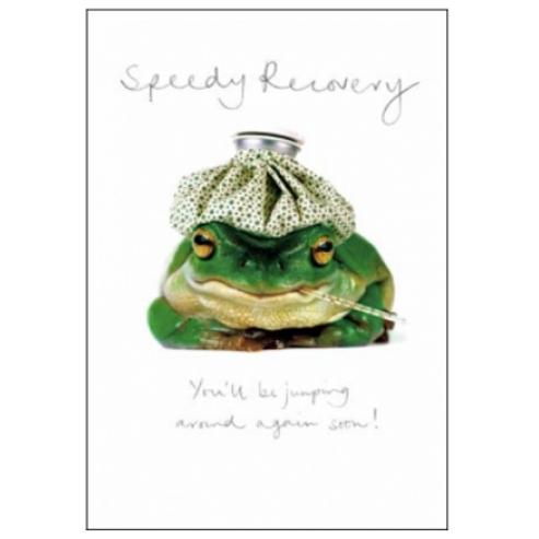Croaky Speedy Recovery Card