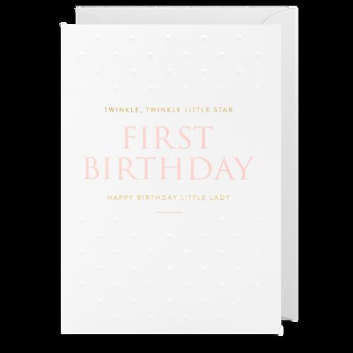 1 First Birthday Little Lady
