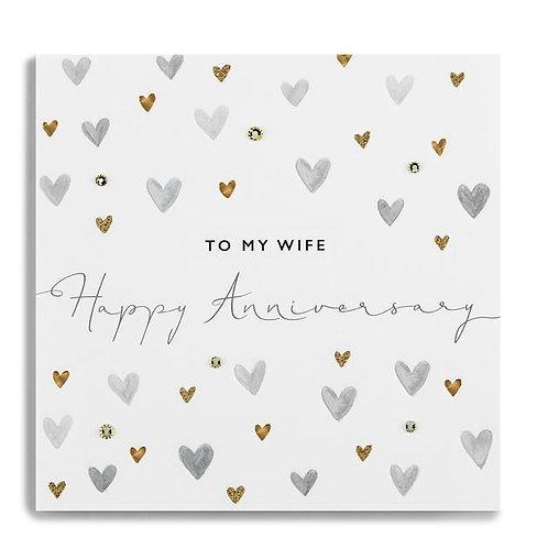 To My Wife Happy Anniversary Hearts
