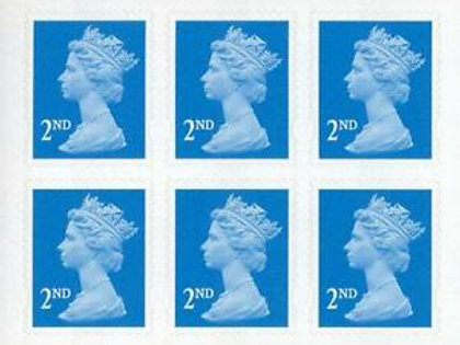 Second Class Stamps x 6