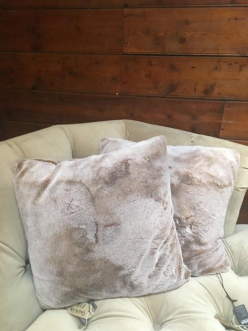 Faux Fur Cushion Cover with Cushion