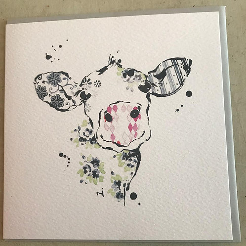 Blue Cow Card