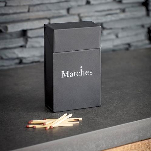 Black Steel Match Box