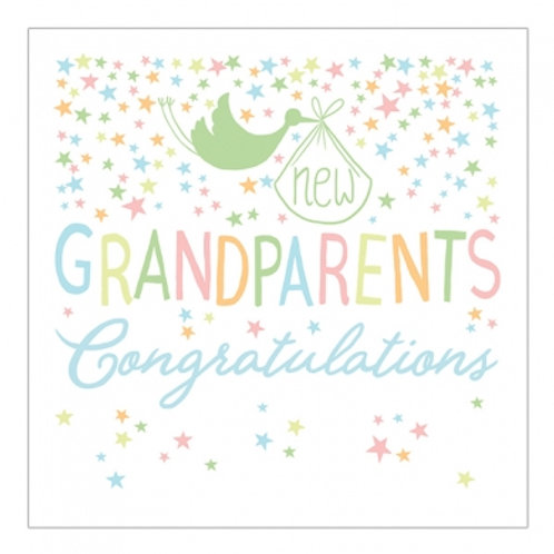 New Grandparents Congratulations Foil Card