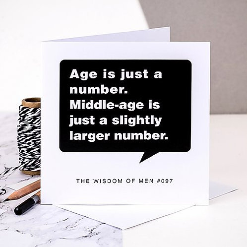 Funny Birthday Card For Middle-Aged Men