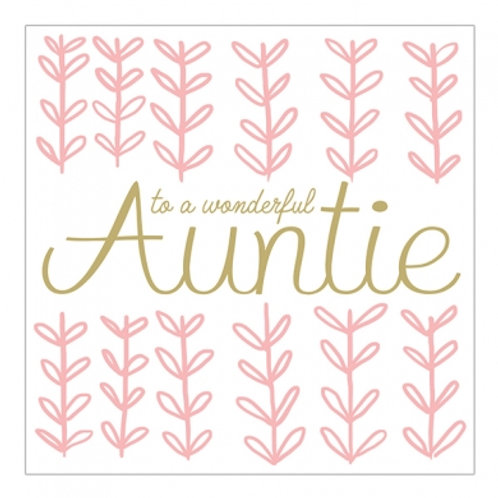 To A Wonderful Auntie