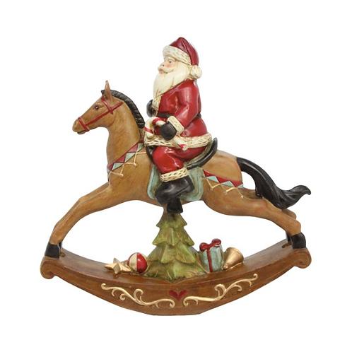 Santa on Rocking Horse Orn