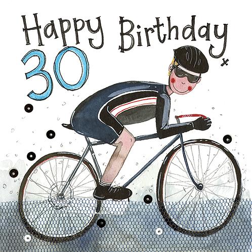 30 Year Old Cyclist Birthday Card