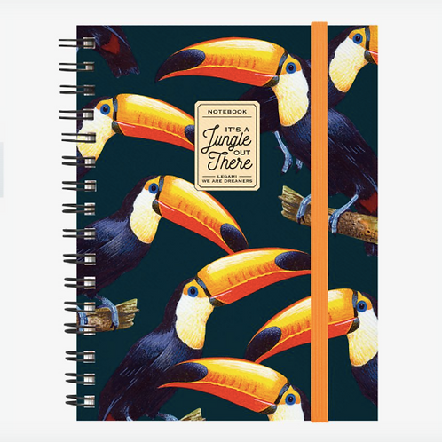 Toucans Lined Spiral A5 Notebook