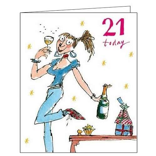 21 Today - Quentin Blake birthday card