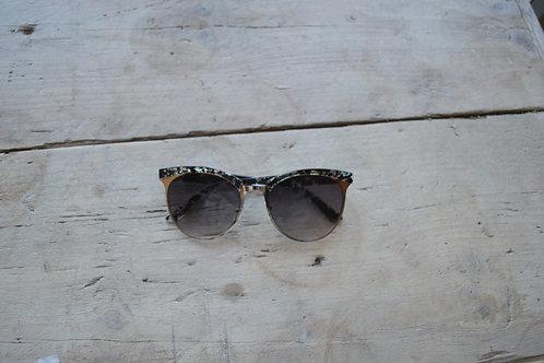 Eliza Gracious Aqua Clubmaster Sunglasses