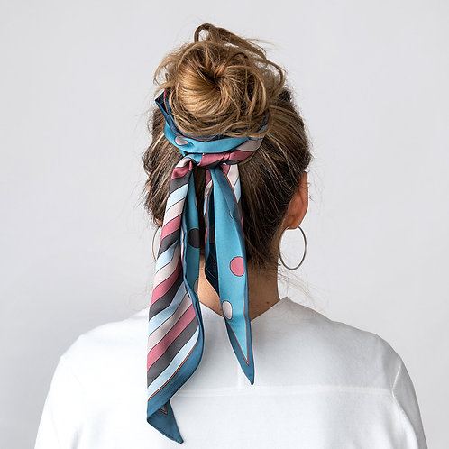 Dotty Teal/Navy Scarf