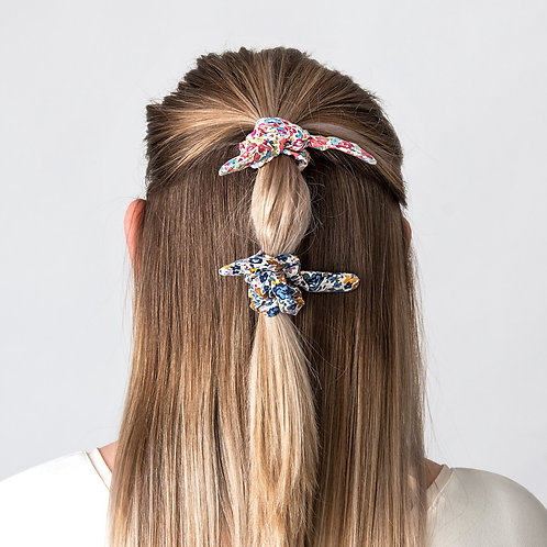 Hair Scrunchie Bow Navy