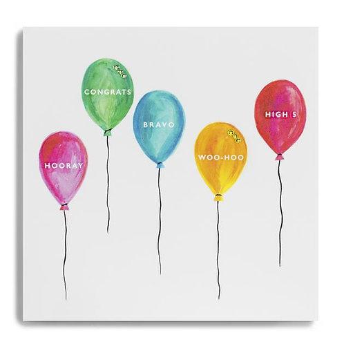 Hooray Congrats Bravo Woo-Hoo High 5 - Balloons