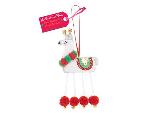 Fa-la-la-la-llama Llama Decoration