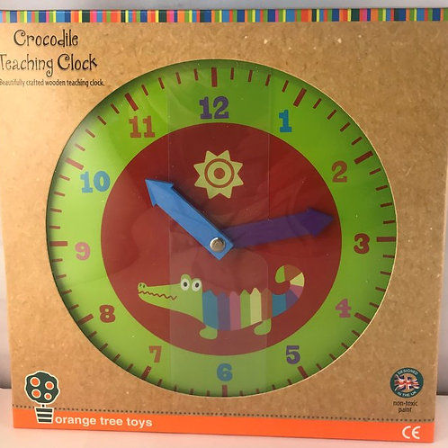 Orange Tree Toys Crocodile Teaching Clock