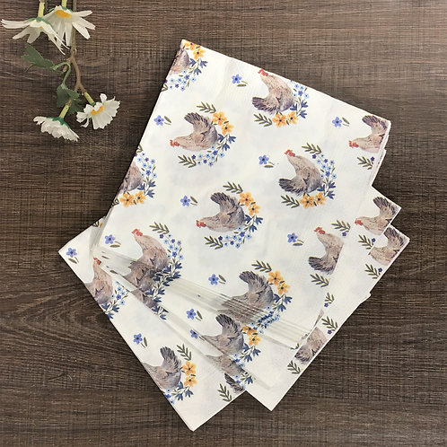Country Folk Hen Paper Napkin