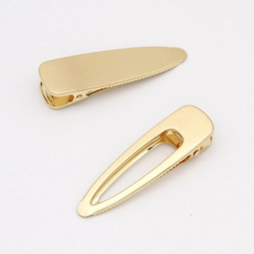 Brushed Gold Hair Clips