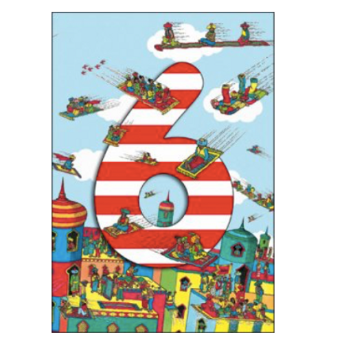 6 Where's Wally Arabian Carpets Birthday Card