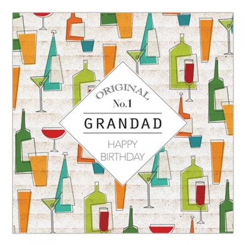 Original No.1 Grandad Happy Birthday