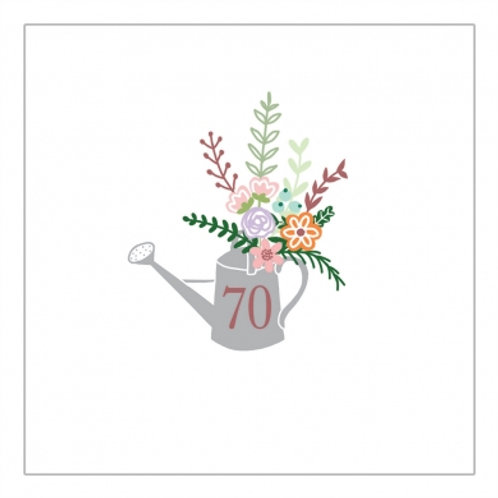 70 Watering Can & Flowers