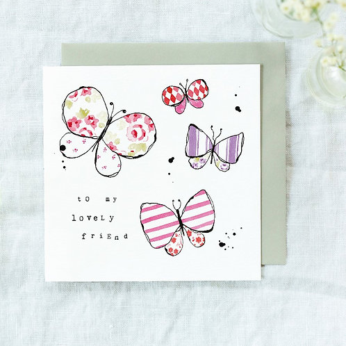 'to my lovely friend' Card