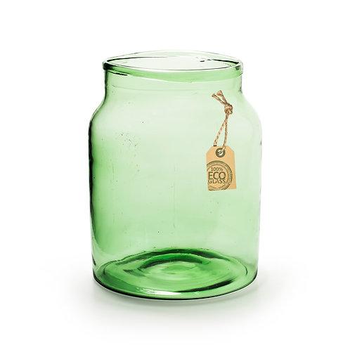 Casa Verde Set of Two Eco Vase Nolan Green