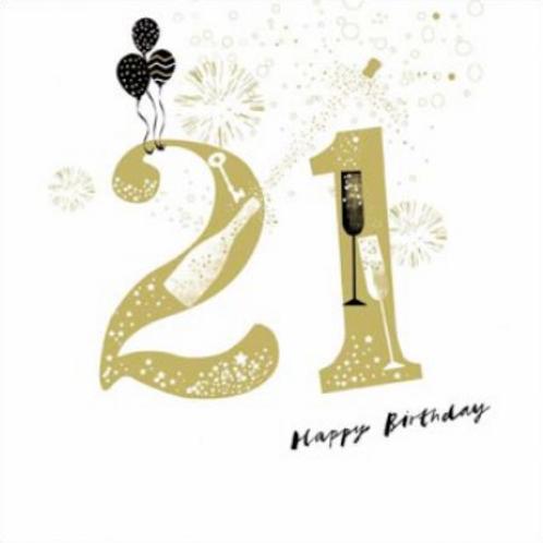 21 make merry Birthday Card