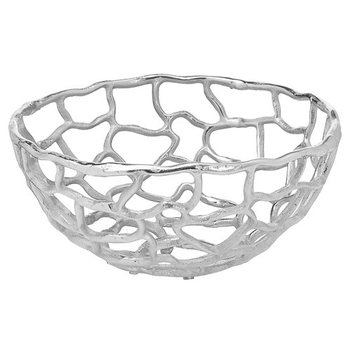 Ohlson Silver Perforated Coral Inspired Bowl Small